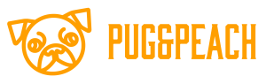 Pug And Peach Logo